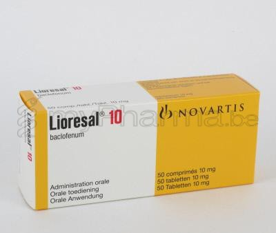 Lioresal Baclofen 10 Mg